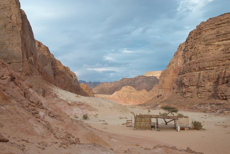 L'Egitto. Sinai. Canyon colorato fra le montagne fotografia stock libera da diritti