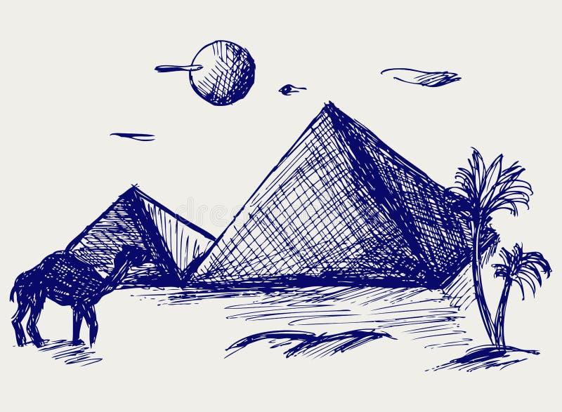 l'Egypte illustration de vecteur