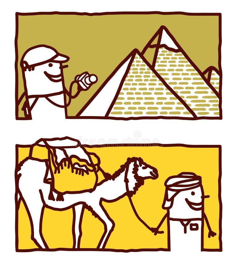 l'Egypte et la course illustration stock
