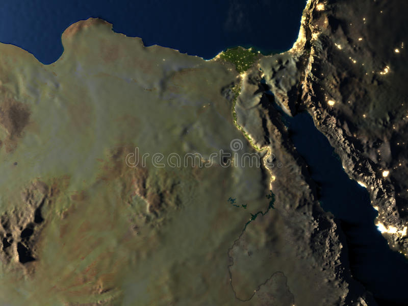 Download L'Egypte La Nuit Sur Terre De Planète Illustration Stock - Illustration du ville, fleuve: 87700808