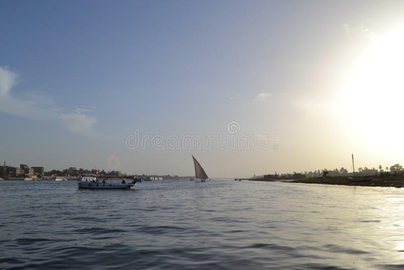 L'Egypte, Louxor, le Nil photographie stock libre de droits