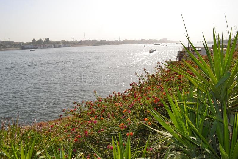L'Egypte, Louxor, le Nil photo libre de droits