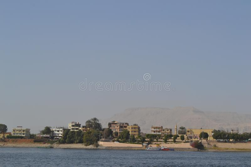 L'Egypte, Louxor, le Nil image stock
