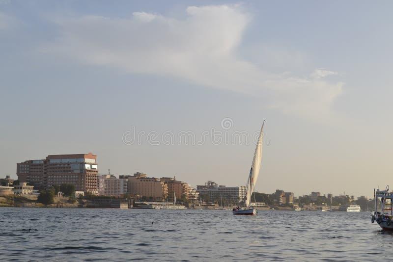 L'Egypte, Louxor, le Nil photo stock