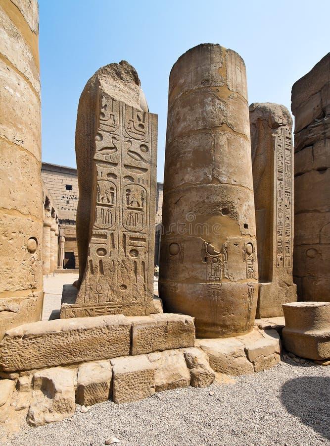 L'Egypte, Louxor, temple d'amun de Louxor. photos libres de droits