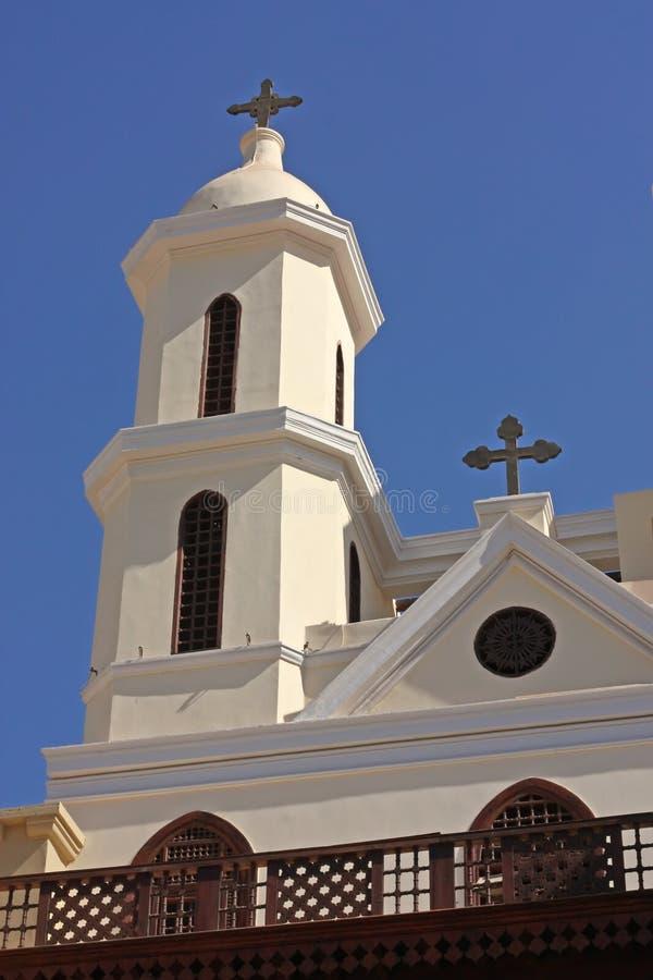 L'EL s'arrêtant Muallaqa d'église au Caire. photo libre de droits