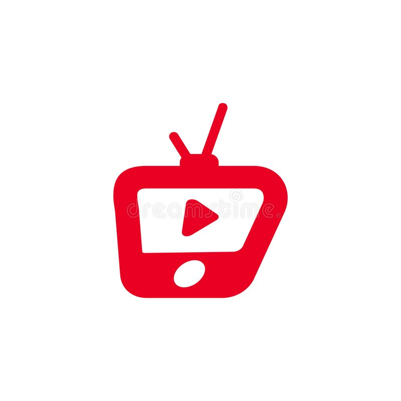 l'elemento dell'illustrazione di vettore di logo dell'icona della TV ha isolato royalty illustrazione gratis