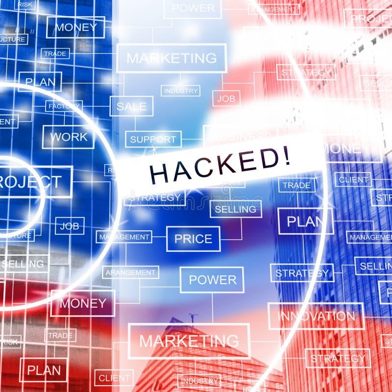 L'elezione che incide lo spionaggio russo attacca l'illustrazione 3d illustrazione vettoriale