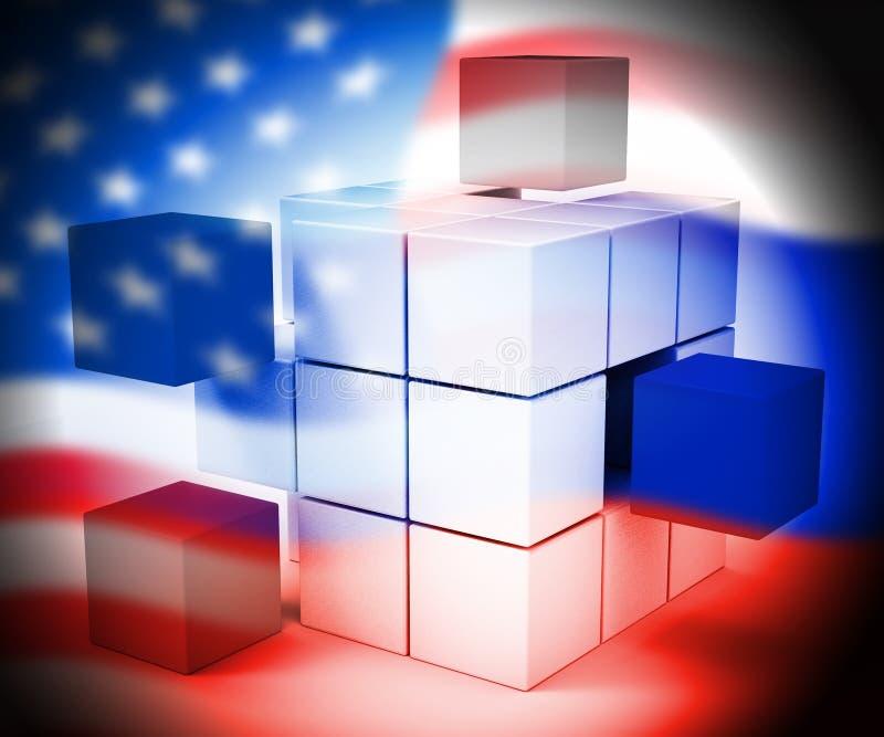 L'elezione che incide lo spionaggio russo attacca l'illustrazione 3d illustrazione di stock