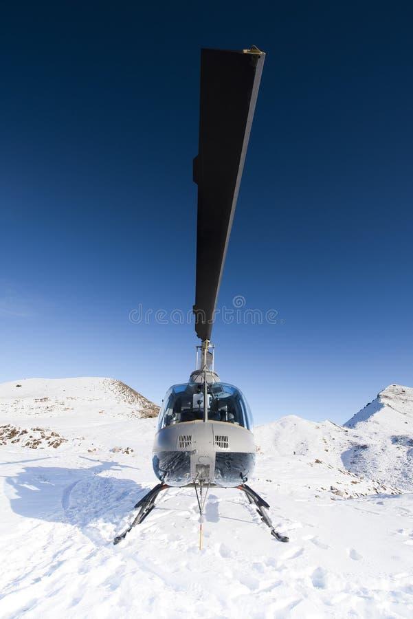 L'elicottero ha sparato da un primo piano di uno se le lame dei its immagini stock