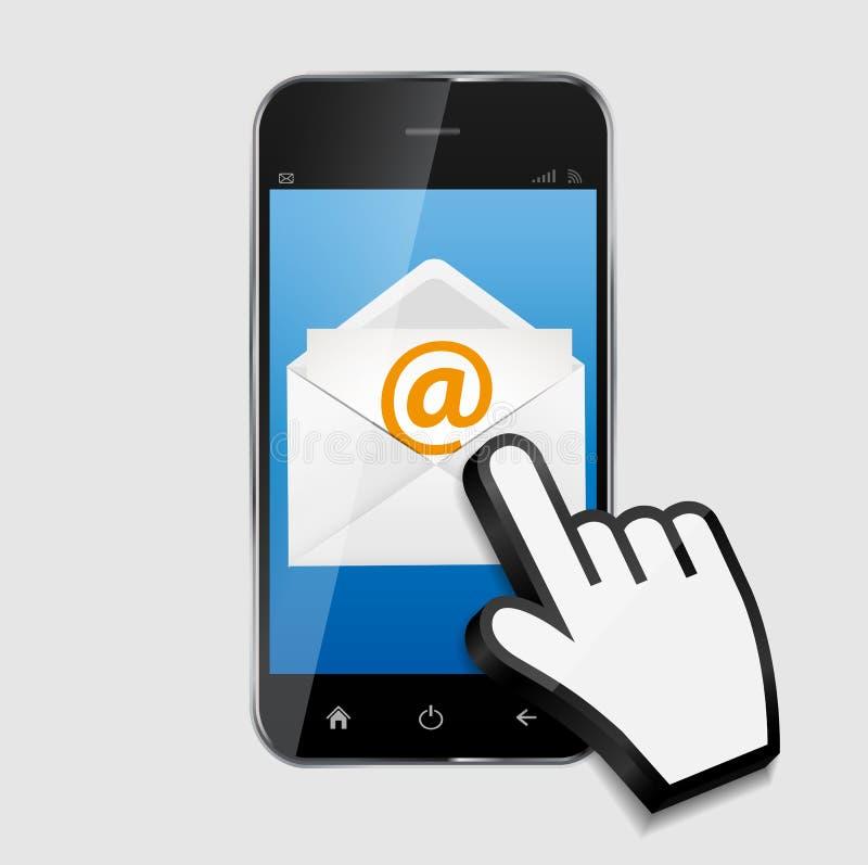 L'email de concept de construction écrivent le vecteur d'icône illustration de vecteur