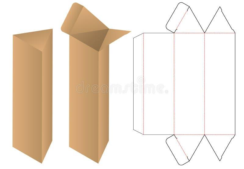 L'emballage de boîte a découpé la conception avec des matrices de calibre maquette 3d illustration stock
