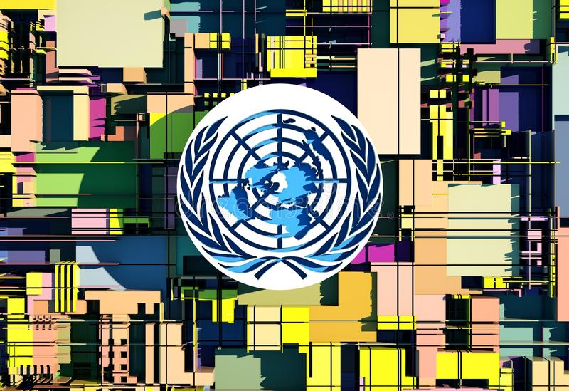 L'emblème de l'illustration des Nations Unies (l'ONU) illustration de vecteur