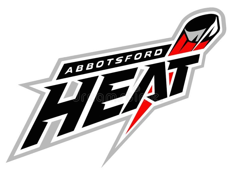 L'emblème du club de hockey 'Abbotsford Heat' Canada illustration stock