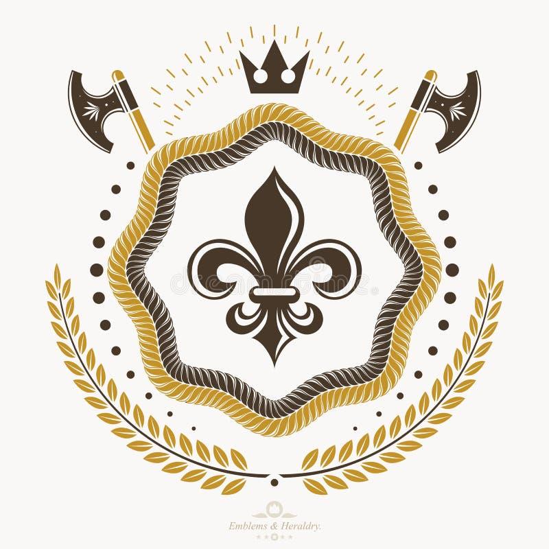 L'emblema d'annata, vector la progettazione araldica illustrazione di stock