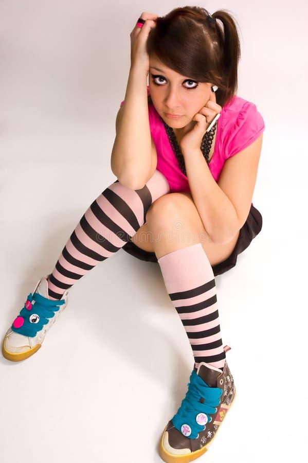 L'emo d'adolescent photo libre de droits