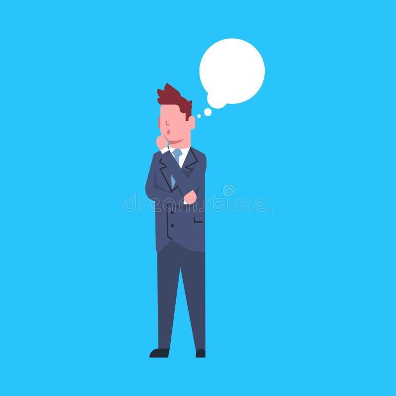 L'employé de bureau de sexe masculin de pensée d'homme d'affaires considèrent la femme d'affaires Corporate Isolated illustration stock