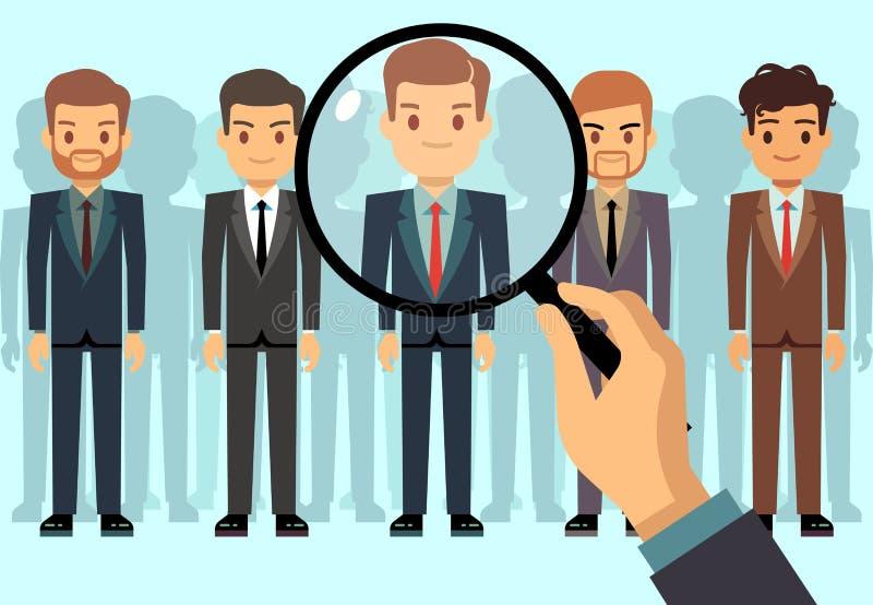 L'employeur du choix, sélection de candidat, employés groupent le concept de vecteur de recrutement d'affaires de gestion illustration stock