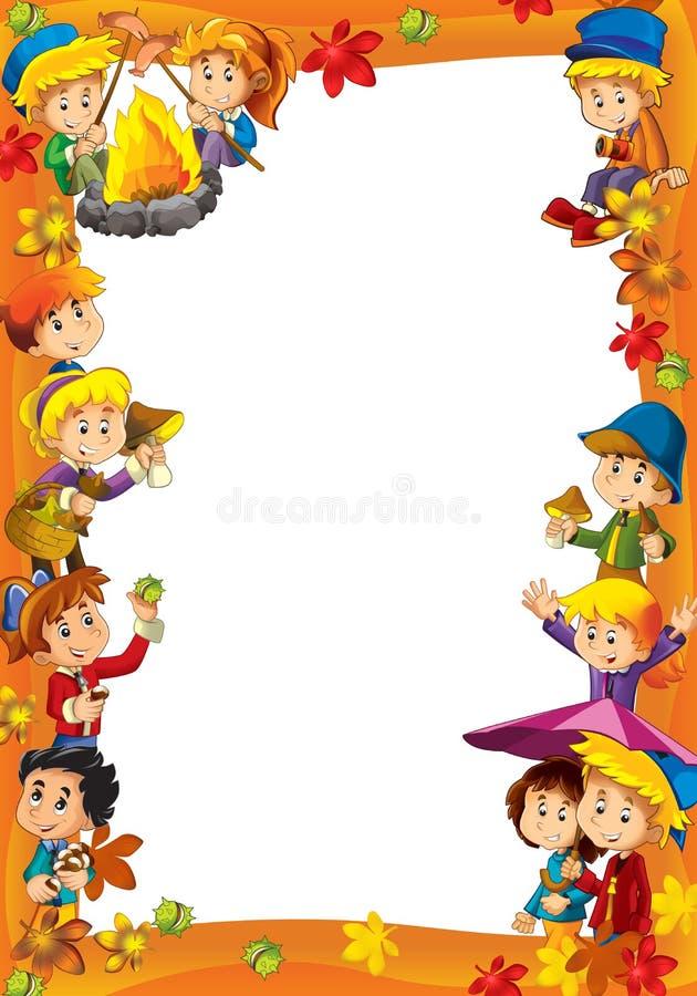 L'encadrement pour l'usage divers - avec des gens dans l'âge différent - adolescent de petite taille - pour des enfants illustration de vecteur