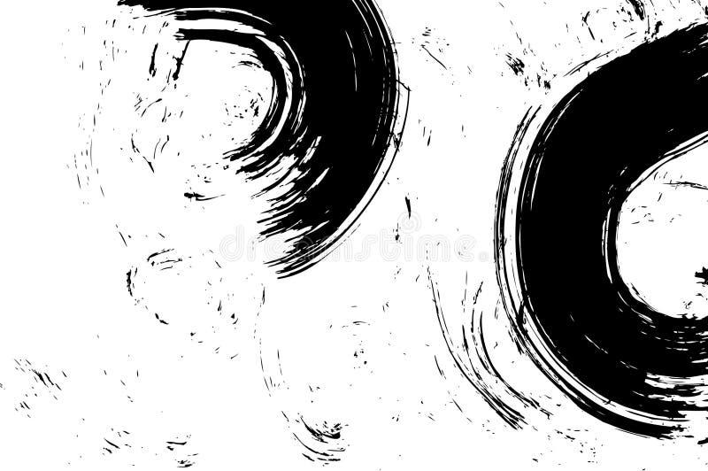 L'encre grunge a balayé illustration stock