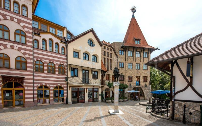 L'endroit de l'Europe, Komarno, Slovaquie photographie stock libre de droits