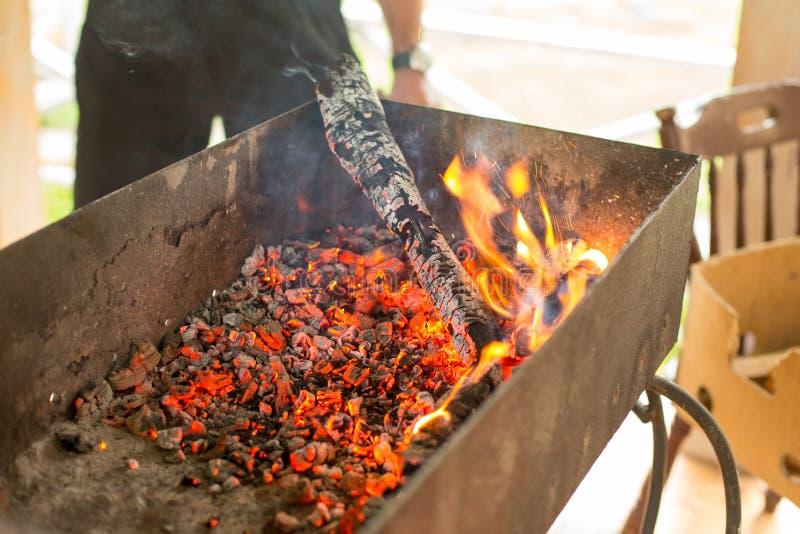 L'endroit pour un barbecue est prêt images stock