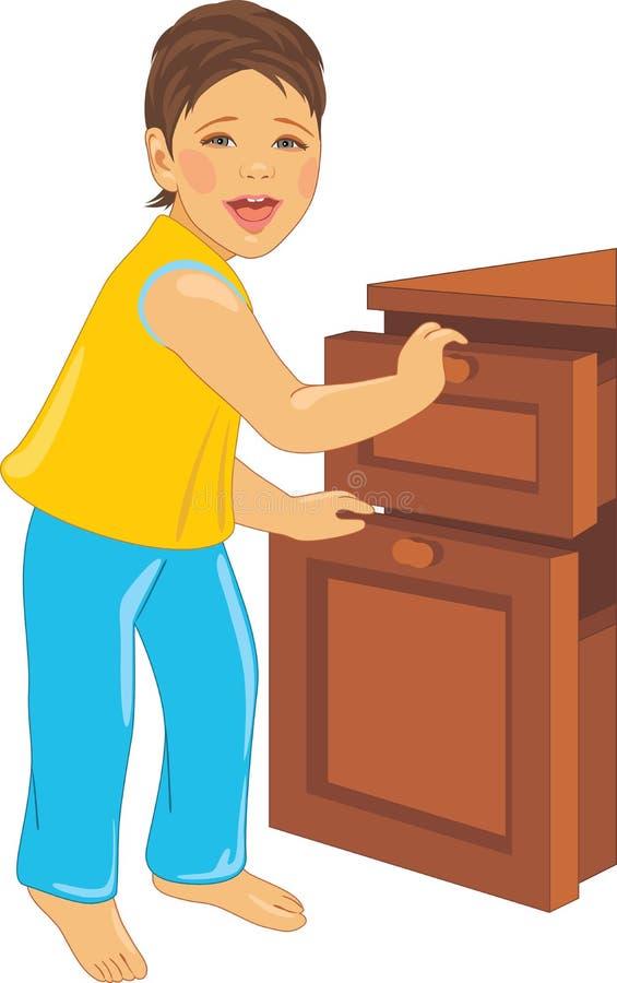L'enfant riant ouvre la raboteuse illustration stock
