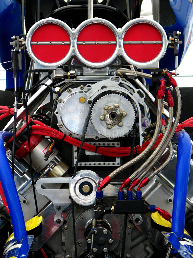 L'engine de Dragster image stock
