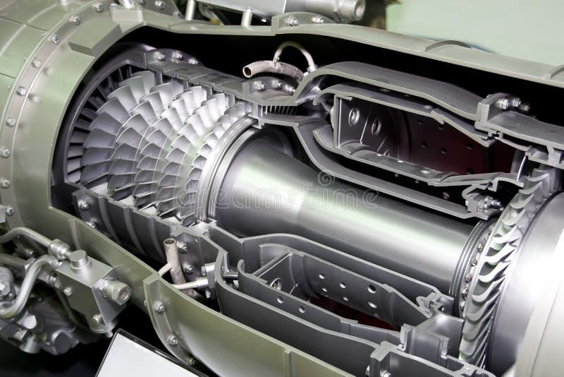 L'engine de l'avion image stock