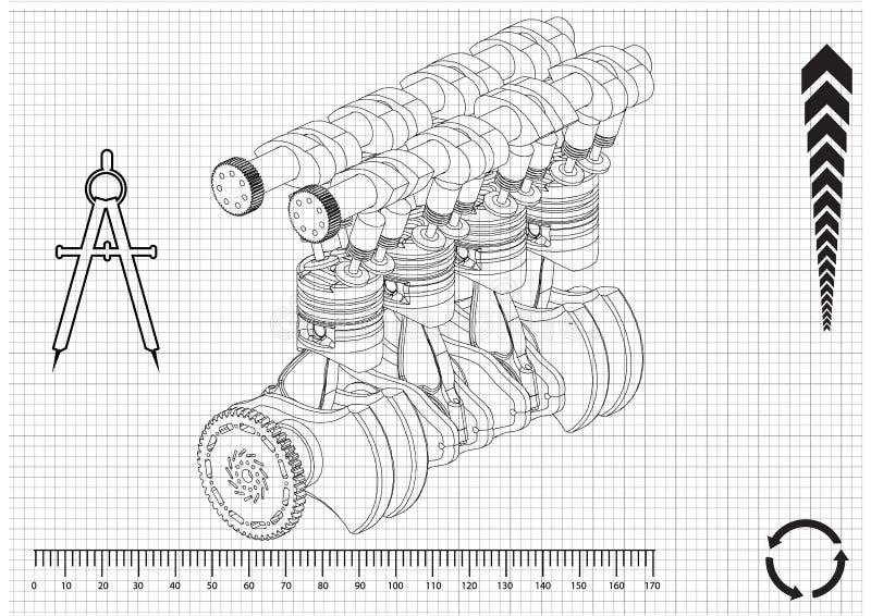 L'engine de véhicule photo stock