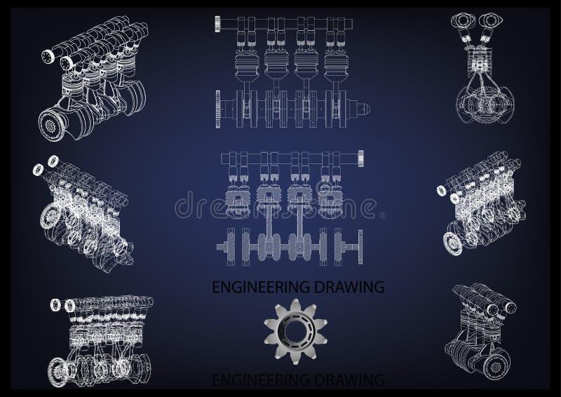 L'engine de véhicule photos stock