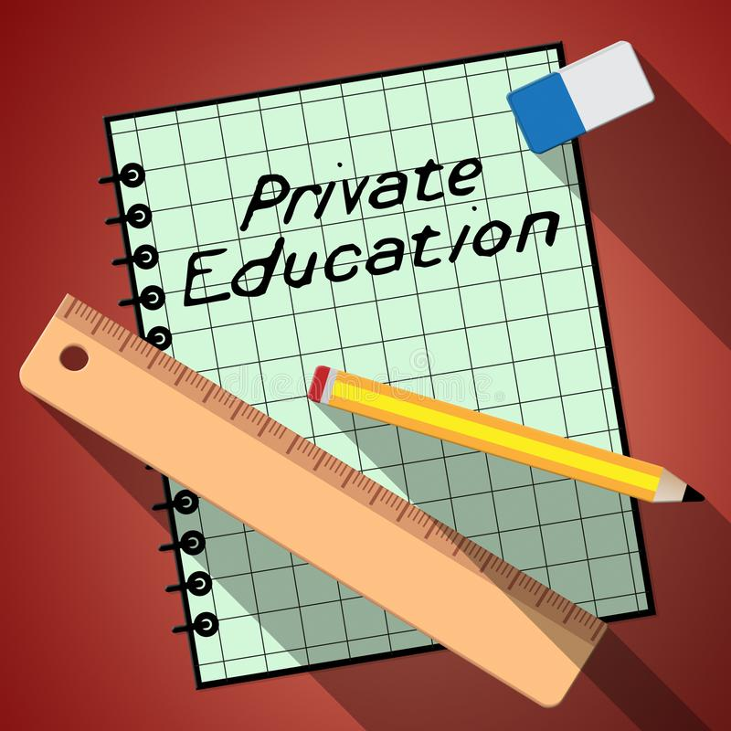 L'enseignement privé montre non l'état apprenant l'illustration 3d illustration libre de droits