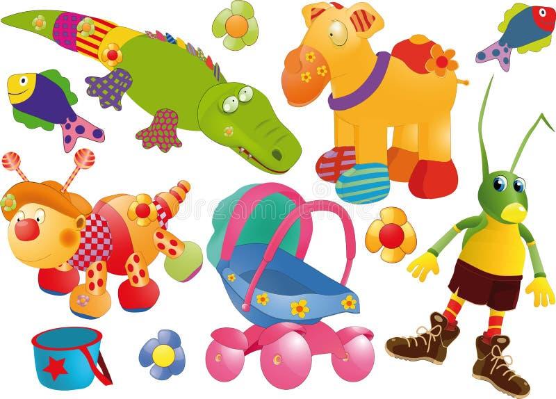 L'ensemble complet de jouets illustration libre de droits