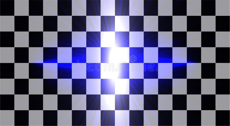 L'ensemble créatif abstrait de vecteur de concept d'effet de la lumière de lueur tient le premier rôle des éclats avec des étince illustration libre de droits