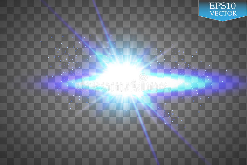 L'ensemble créatif de vecteur de concept d'étoiles d'effet de la lumière de lueur éclate avec des étincelles d'isolement sur le f illustration de vecteur