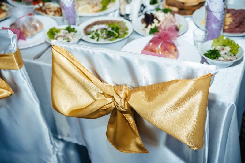 L'ensemble décoré de table pour épouser ou des autres a approvisionné images libres de droits