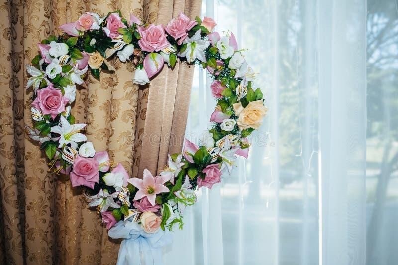 L'ensemble décoré de table pour épouser ou des autres a approvisionné image libre de droits
