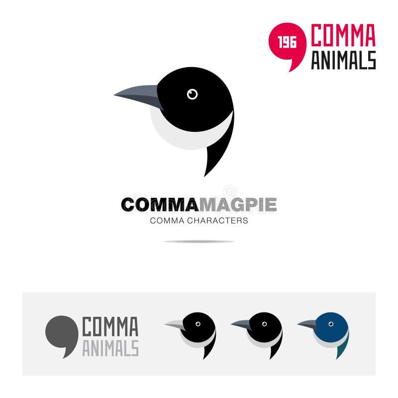 L'ensemble d'icône de concept d'oiseau de pie et le calibre moderne de logo d'identité de marque et le symbole d'APP basé sur la  illustration de vecteur