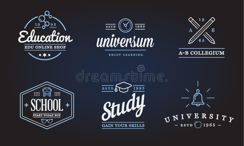 L'ensemble d'illustration d'icônes d'éducation de vecteur peut être employé comme logo o illustration de vecteur
