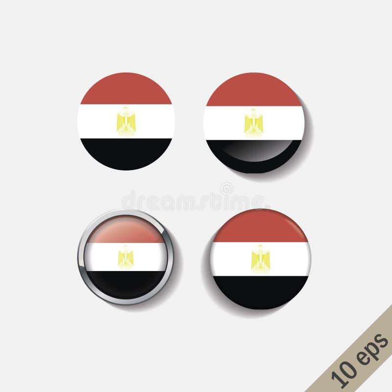 L'ensemble de l'EGYPTE diminue autour des insignes illustration stock