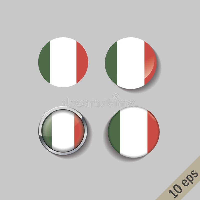 L'ensemble de l'ITALIE diminue autour des insignes illustration stock