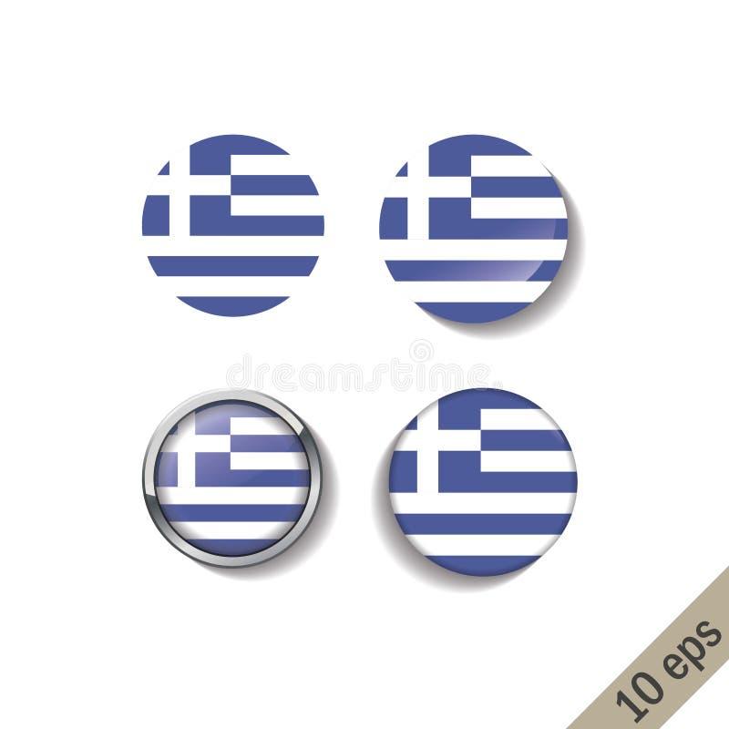 L'ensemble de la GRÈCE diminue autour des insignes illustration de vecteur