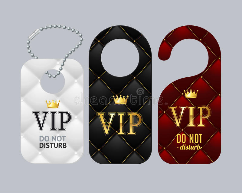 L'ensemble de labels de porte de VIP ne dérangent pas Vecteur illustration stock