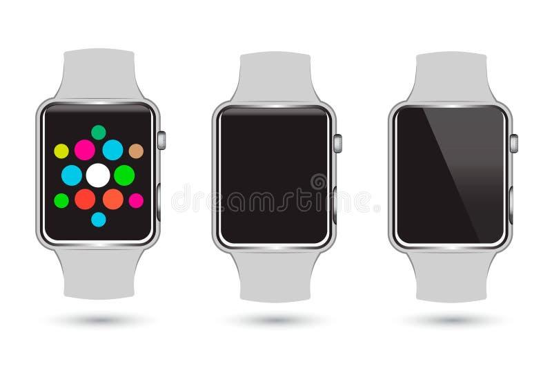 L'ensemble de Smart observe des icônes illustration de vecteur
