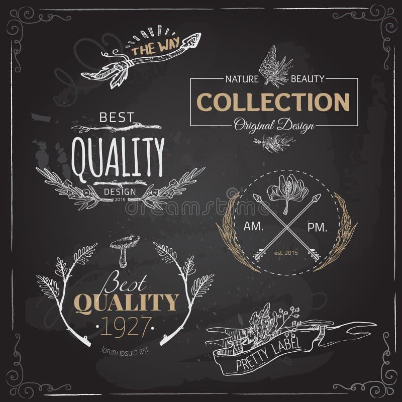 L'ensemble de vintage et de logo moderne de ferme marque et conçoit illustration de vecteur