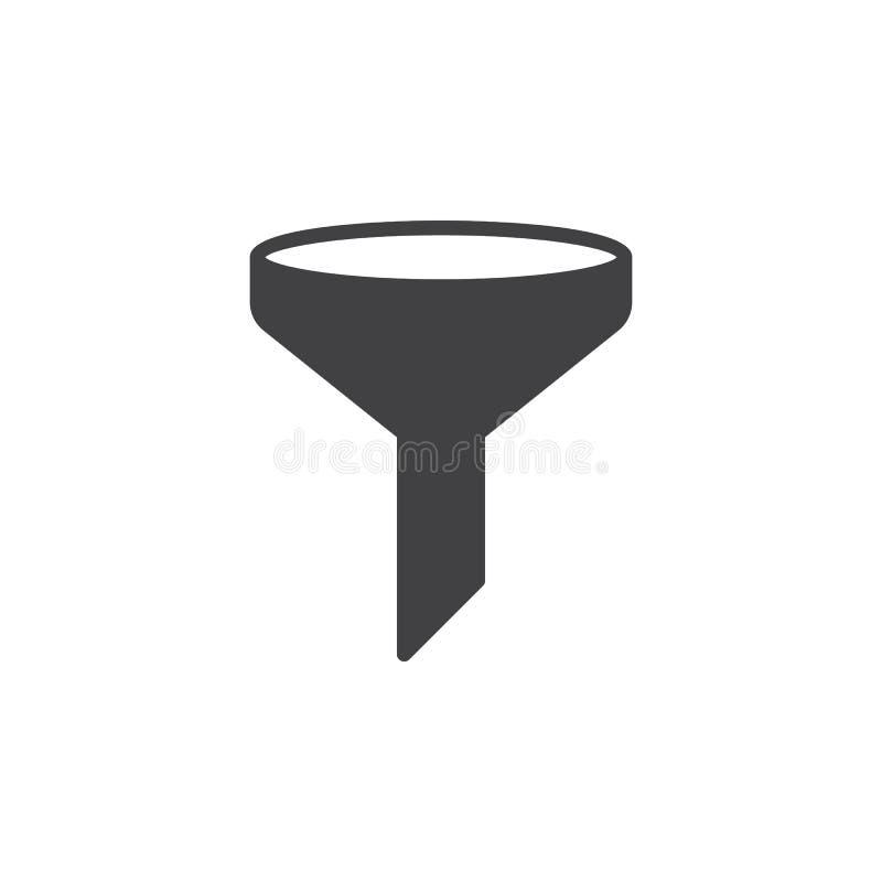 L'entonnoir, vecteur d'icône de filtre, a rempli signe plat, pictogramme solide d'isolement sur le blanc illustration de vecteur