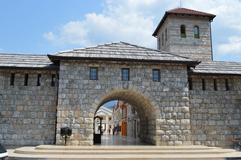 L'entrée à la ville Andric photo libre de droits
