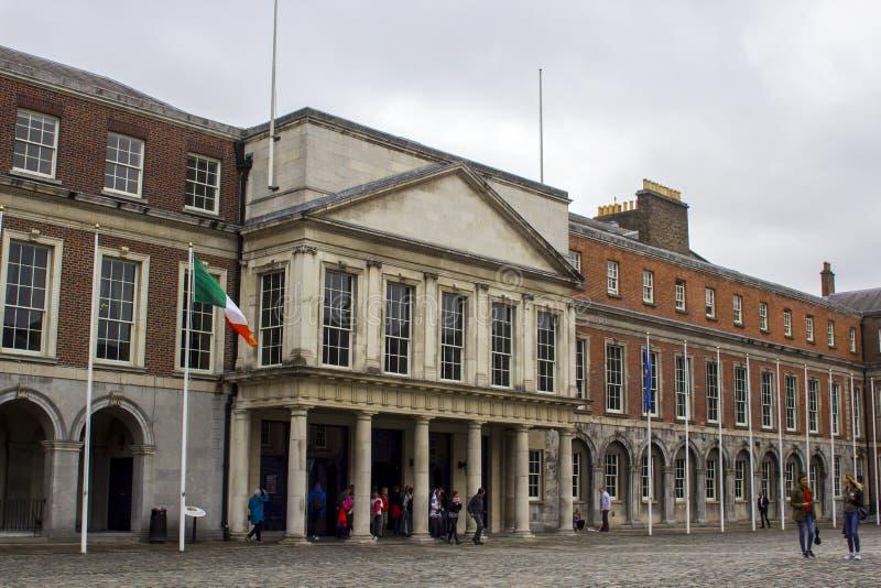 L'entrée aux appartements d'état de Dublin Castle Ireland photo stock