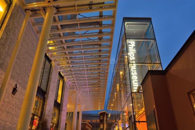 L'entrée du musée de Philips photo libre de droits