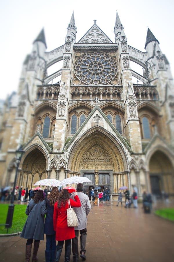 L'entrée du nord de l'Abbaye de Westminster images stock